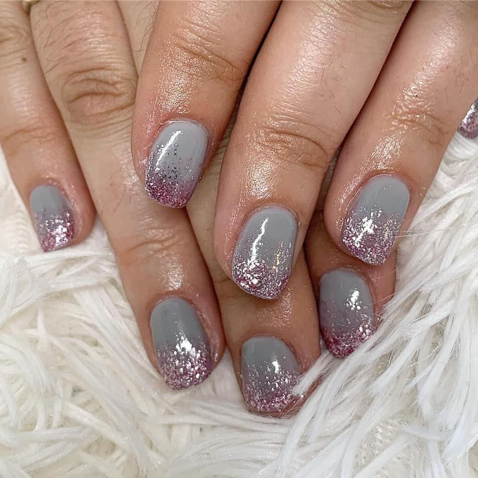 ombre glitter gelnails